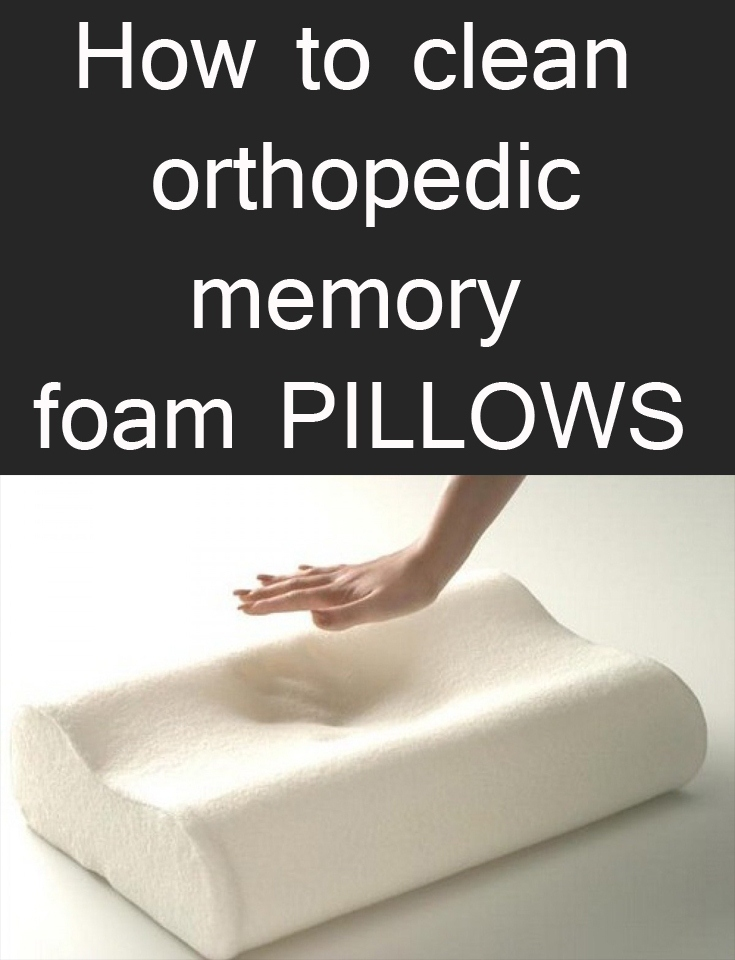 how to clean orthopedic memory foam pillows. Black Bedroom Furniture Sets. Home Design Ideas