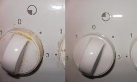 How to remove grease and dirt deposited on the stove's handles without chemicals