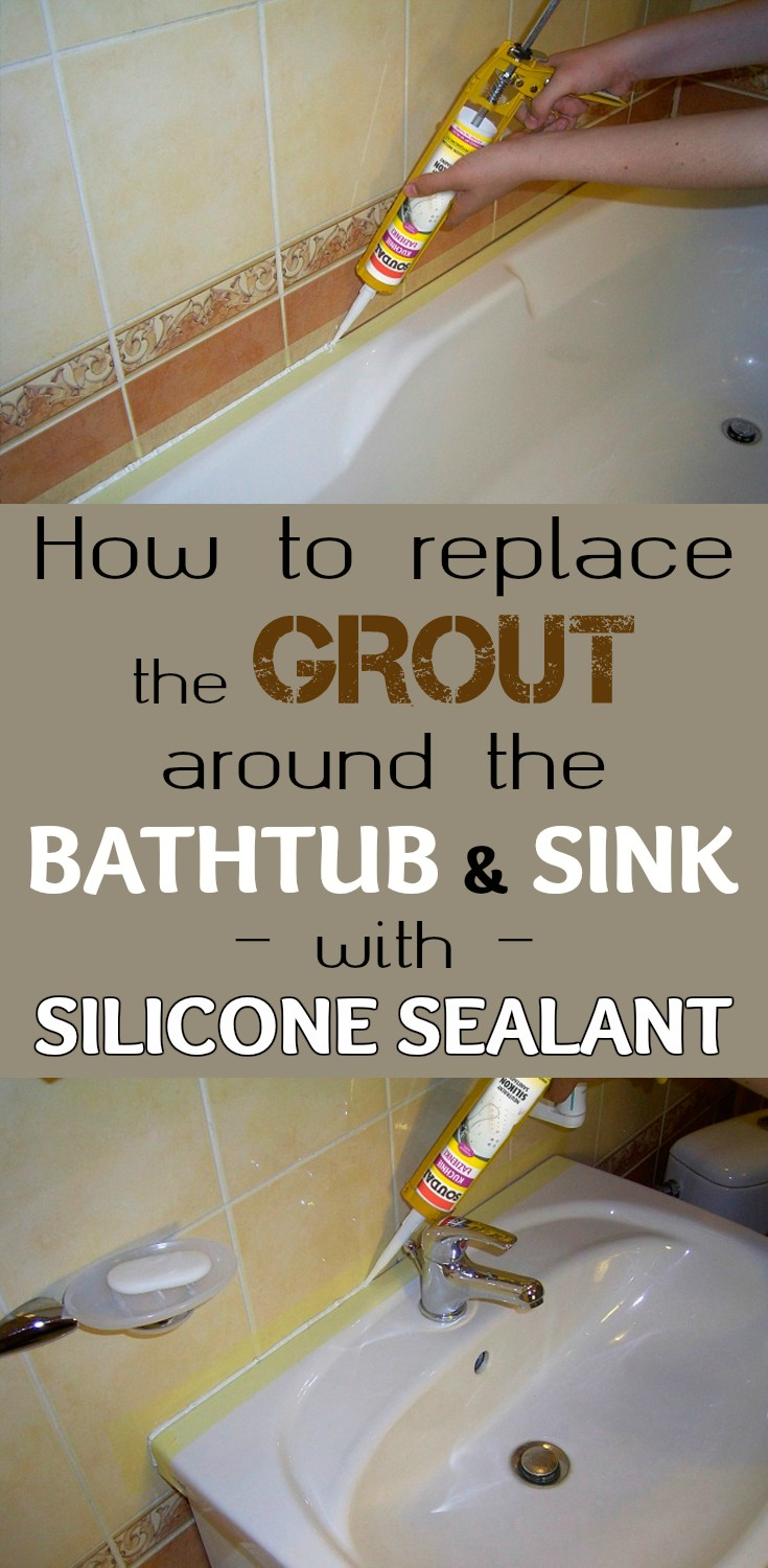 How to replace the grout around the bathtub and sink with for How to clean bathroom grout