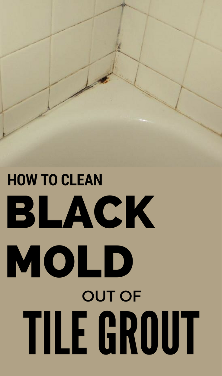 How to clean black mold out of tile grout for How to clean bathroom grout mold