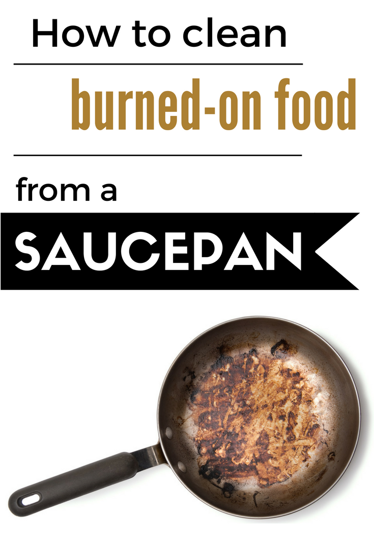 How to clean burned on food from a saucepan - Clean burnt grease oven pots pans ...