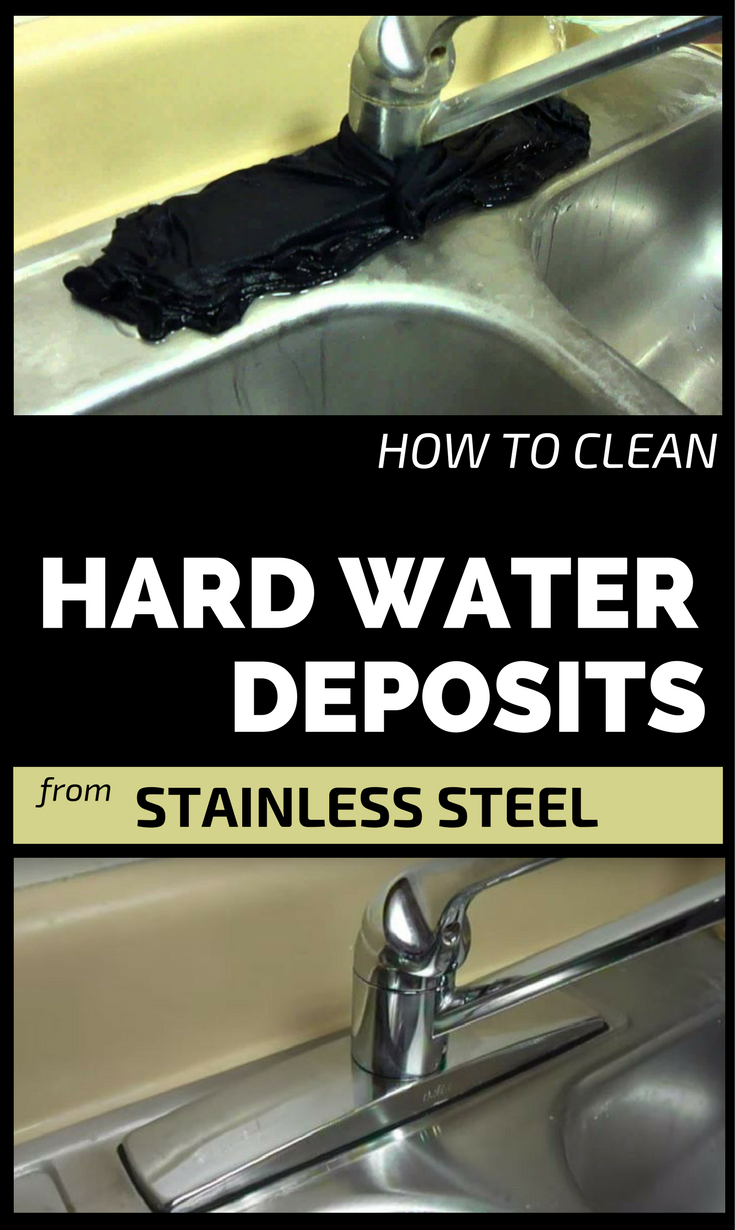how to clean hard water deposits from stainless steel. Black Bedroom Furniture Sets. Home Design Ideas