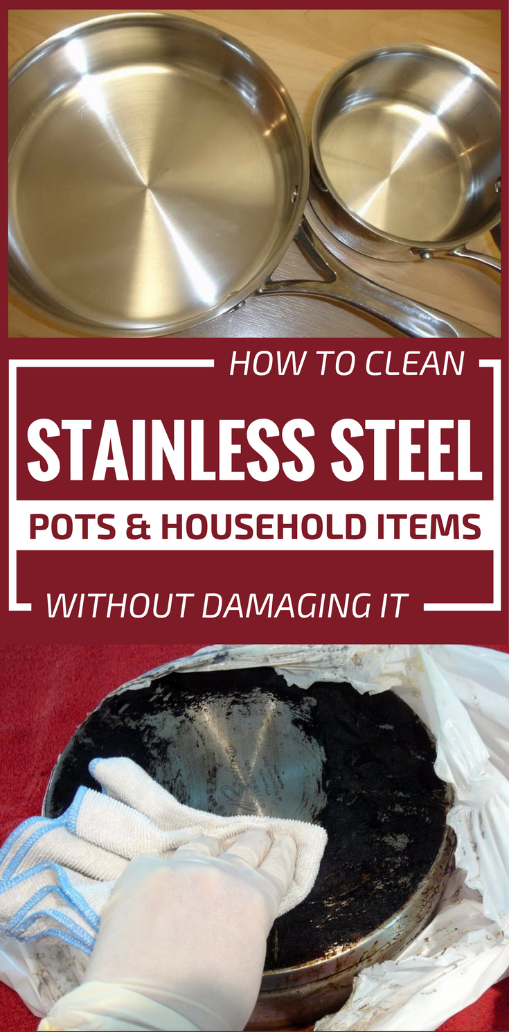 how to clean stainless steel pots and household items without damaging it. Black Bedroom Furniture Sets. Home Design Ideas