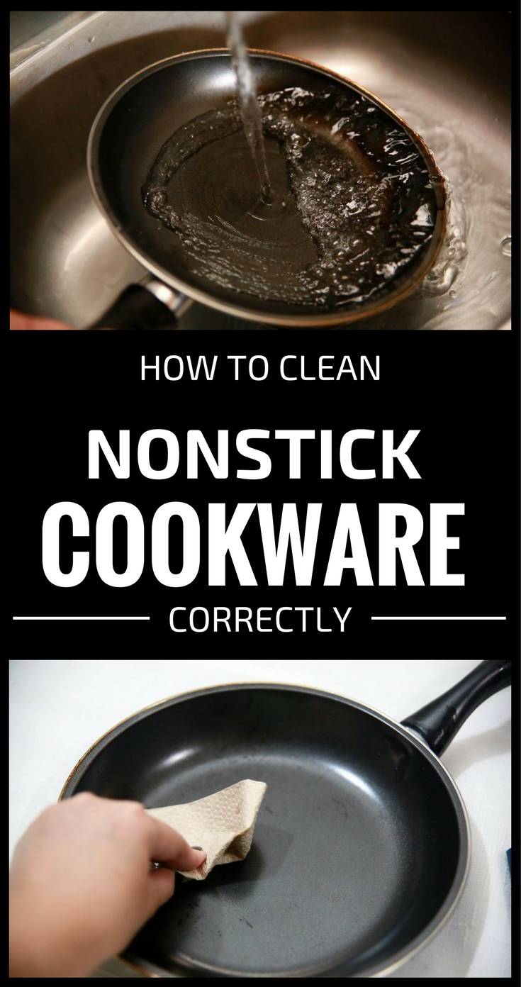 How To Clean Nonstick Cookware Correctly 101cleaningtips Net