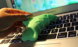 DIY Cleaning Slime To Remove Dirt, Dust And Crumbs Out Of A Keyboard And Other Small Crevices