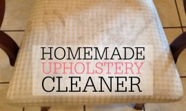 Homemade Upholstery Cleaner: Remove Nasty Mud Stains From Textile Upholstery